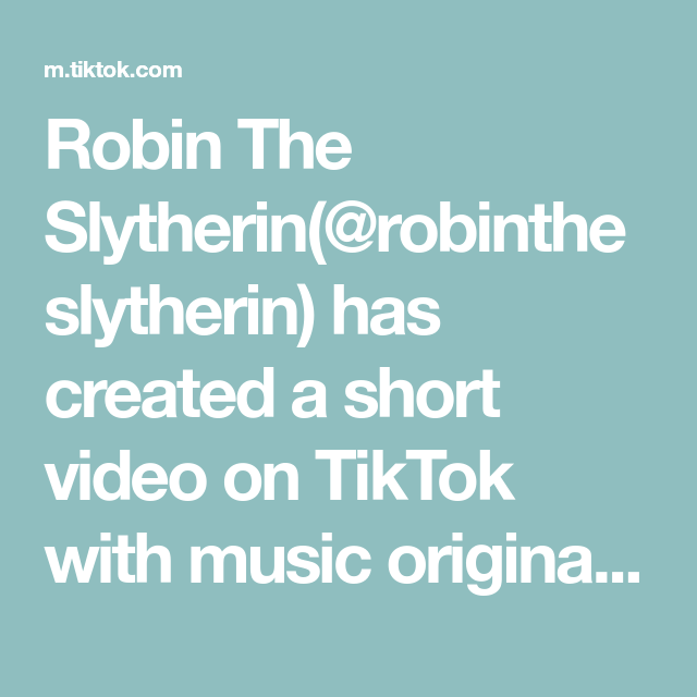 Robin The Slytherin Robintheslytherin Has Created A Short Video On Tiktok With Music Original Sound Since Every In 2020 Tourettes Awareness Funny Faces First Girl