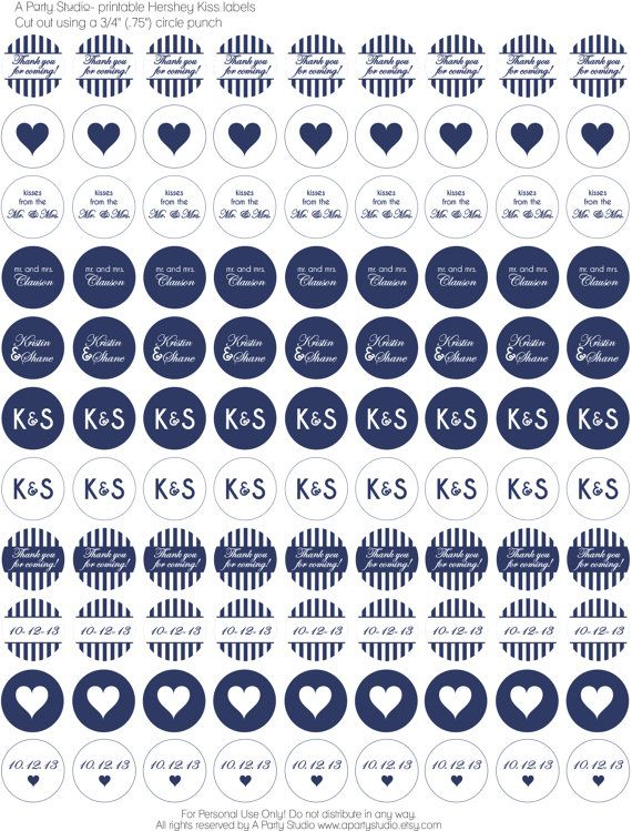 Hey, I found this really awesome Etsy listing at https://www.etsy.com/listing/177411802/navy-blue-white-wedding-chocolate-kiss