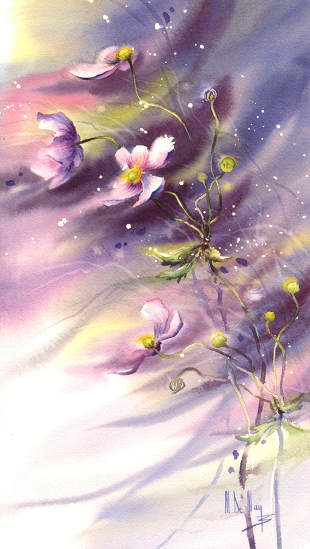 Galerie D Aquarelles Maryse De May En 2020 Peinture Fleurs