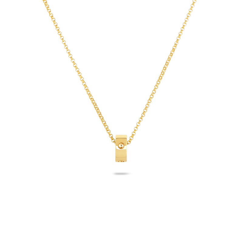 Roberto Coin Symphony Collection 18K Rose Princess Diamond Pendant Necklace, 16