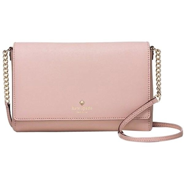 7d49ae6e9cb Pre-owned Kate Spade Charlotte Street Alek Pink Cross Body Bag ( 168) ❤  liked on Polyvore featuring bags