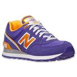 new balance 574 purple gold