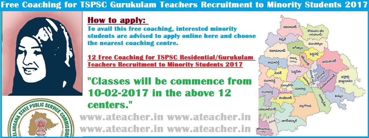 free coaching for tspsc residential teachers recruitment to - free application form
