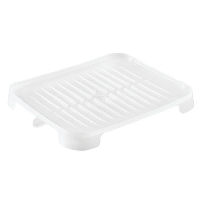 iDesign Frost Plastic Drain Tray #dishracks