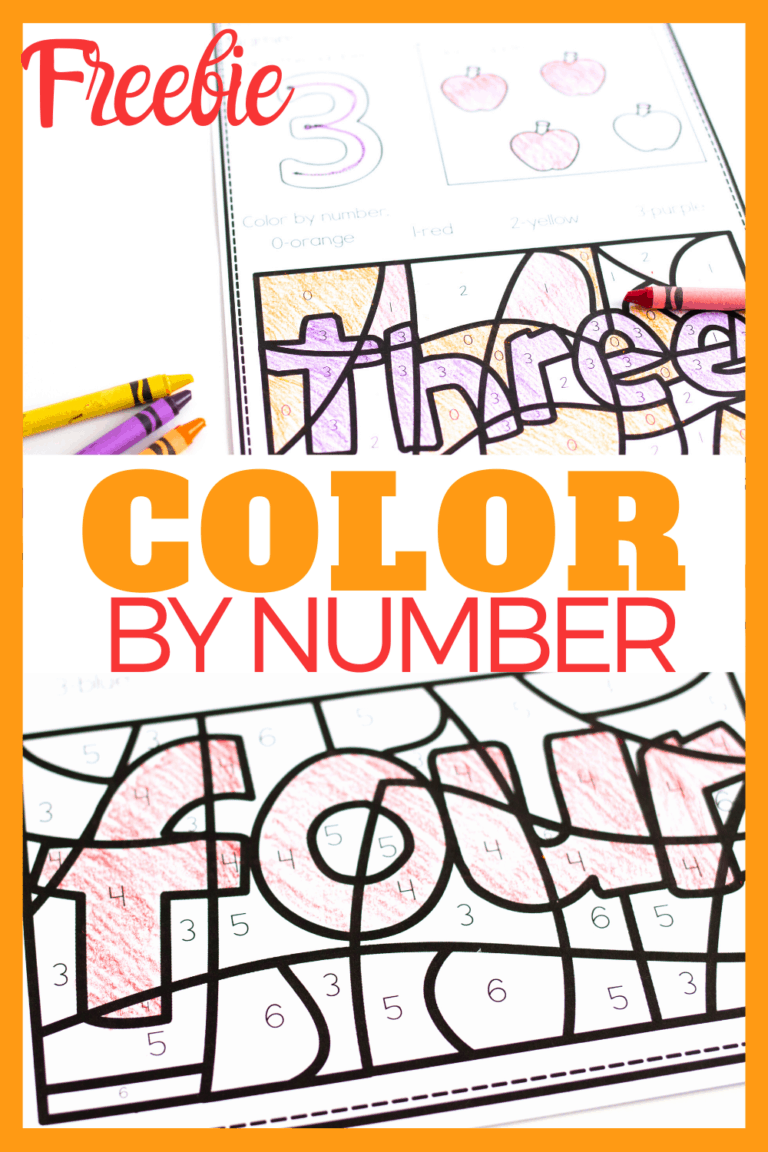 Color By Number Printable Set For 0 10 Number Worksheets Number Recognition Color By Number Printable [ 1152 x 768 Pixel ]
