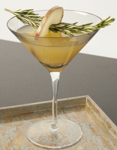 ROSEMARY PEAR MARTINIS: Floral and lovely.