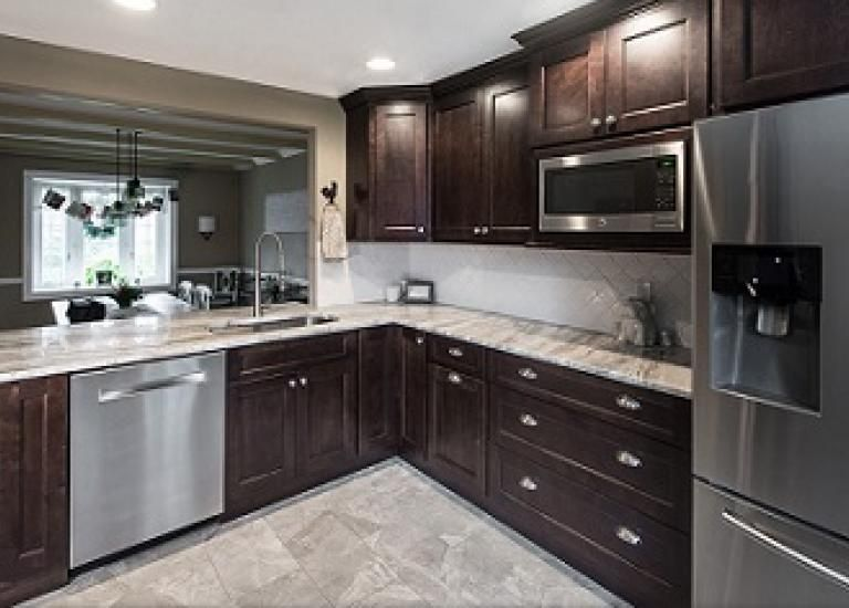 Best Tuscan Walnut Cabinets Countertops Custom Kitchen 640 x 480