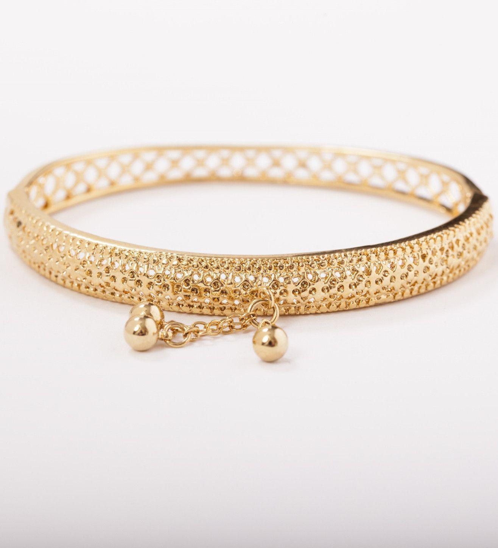 Habiba k gold plated bangle by lemeze products pinterest