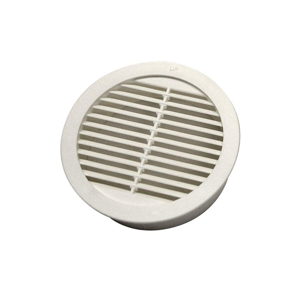 Master Flow 4 In Resin Circular Mini Wall Louver Soffit Vent In White 4 Pack Rlsc4 The Home Depot Blown In Insulation Circular Vented