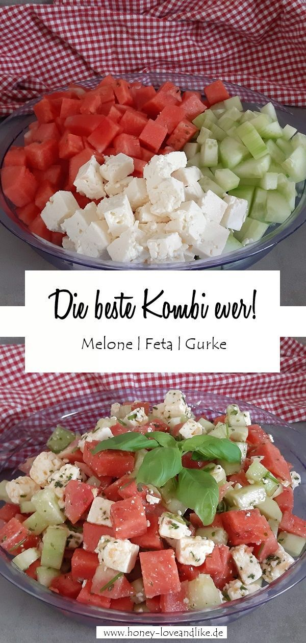 Die beste Kombi ever! Melone, Feta & Gurke