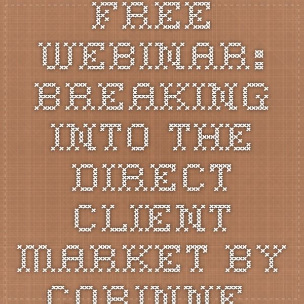 Free webinar breaking into the direct client market by Corinne - client information sheet template