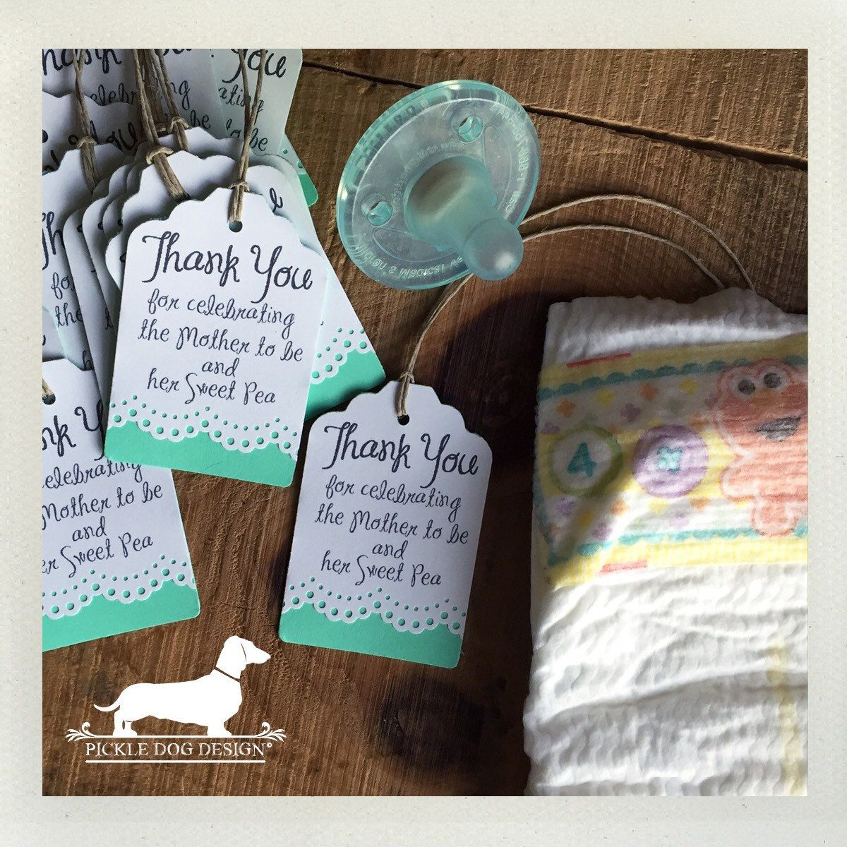 Lacey Double. Personalized Gift Tags (Set Of 12