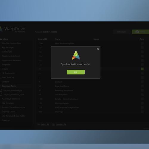 WarpDrive for NetSuite Win Desktop App Redesign and