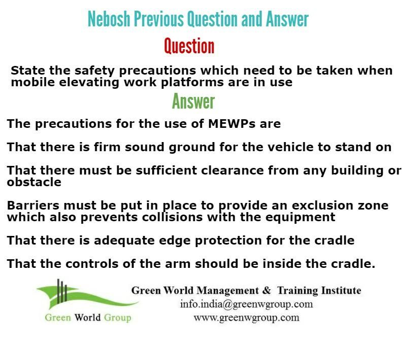 NEBOSH past paper exam questions 1 health and safety Pinterest - sample health and safety policy