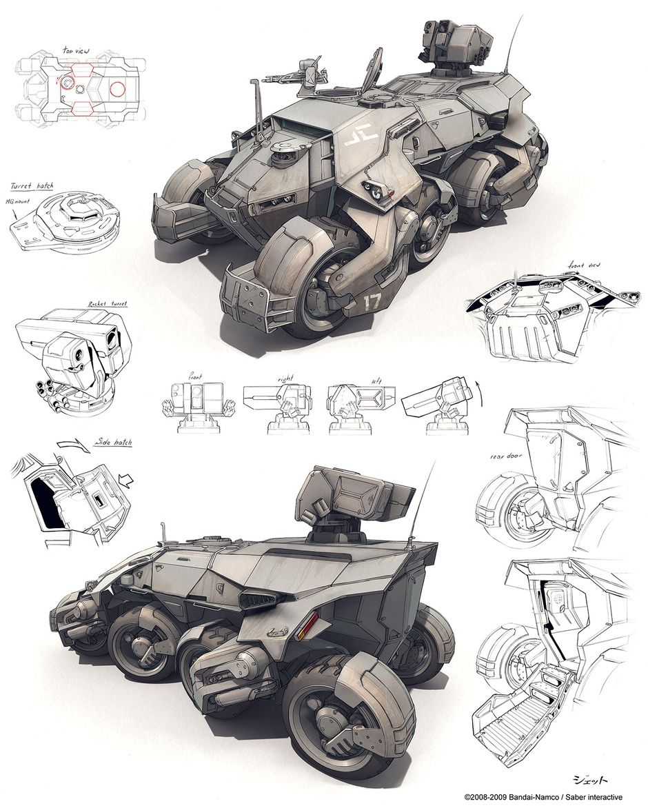 Car Rocket Launcher Concept Art
