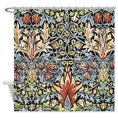 William Morris Shower Curtain By Teyes William Morris Wallpaper