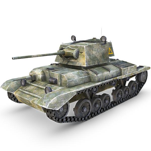 A10 Cruiser Mk II Tank - game-ready 3d model by gamedev cgduck pro
