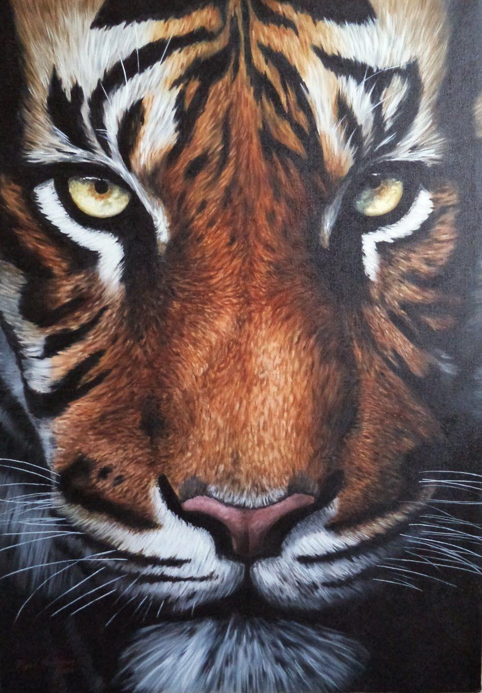 Pintura Al óleo Tigre Como Pintar Pelaje In 2019