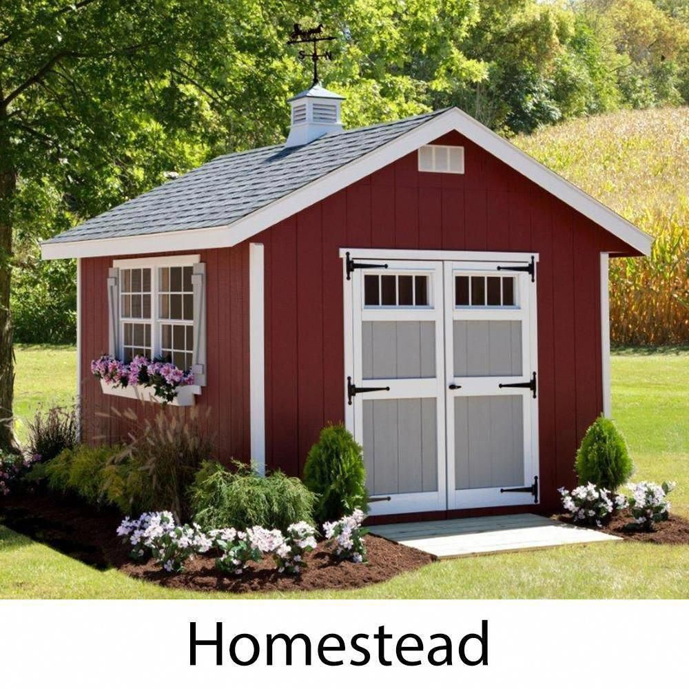 EZ-Fit Sheds Homestead Outdoor Garden Shed Storage Solution