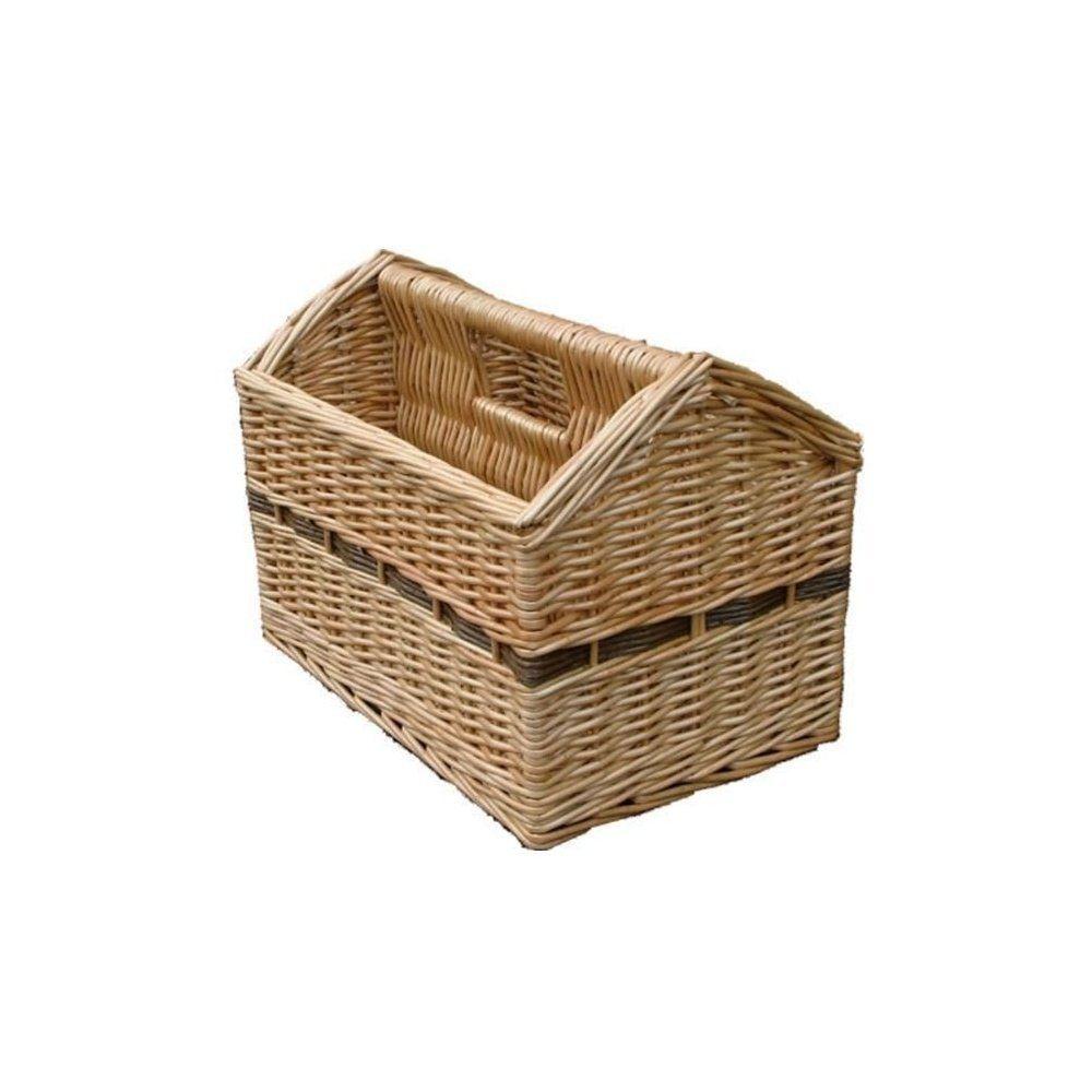 Wicker Magazine Storage Basket Co Uk Kitchen Home 20 00