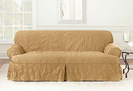 3 Cushion Sofa Slipcover Slipcovered