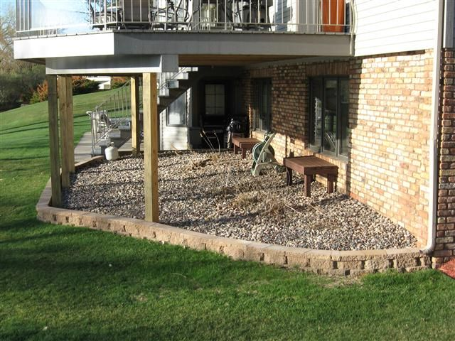 Under The Deck Landscaping No More Muddy Doggie Footprints On
