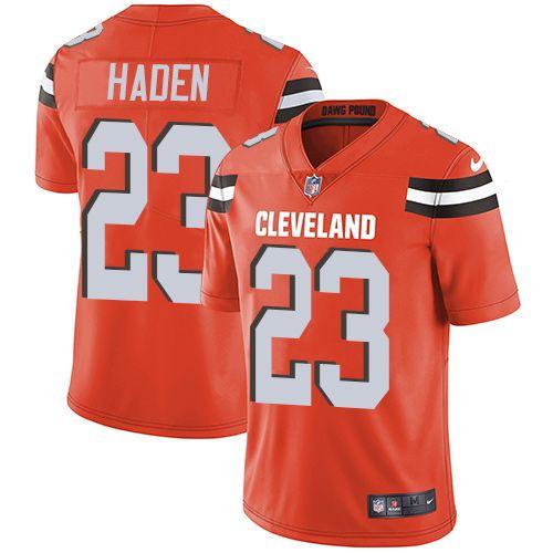 Nike Browns  23 Joe Haden Orange Alternate Men s Stitched NFL Vapor  Untouchable Limited Jersey 9b31b39ca