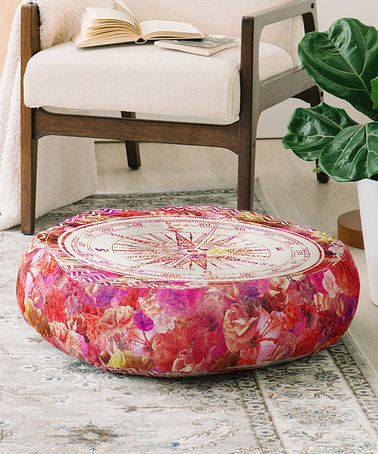 Pink Compass Bianca Floor Pillow #zulily #zulilyfinds | Home ...