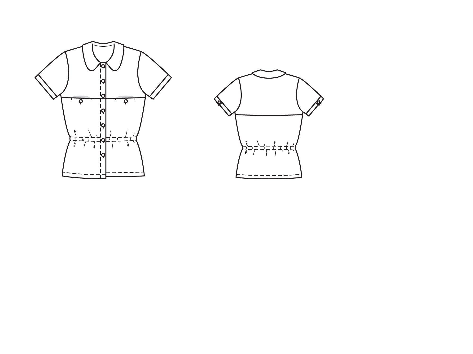 Bluzka prostą sylwetkę - numer wzorca 109 Magazine 6/2015 Burda - wzory na bluzki Burdastyle.ru