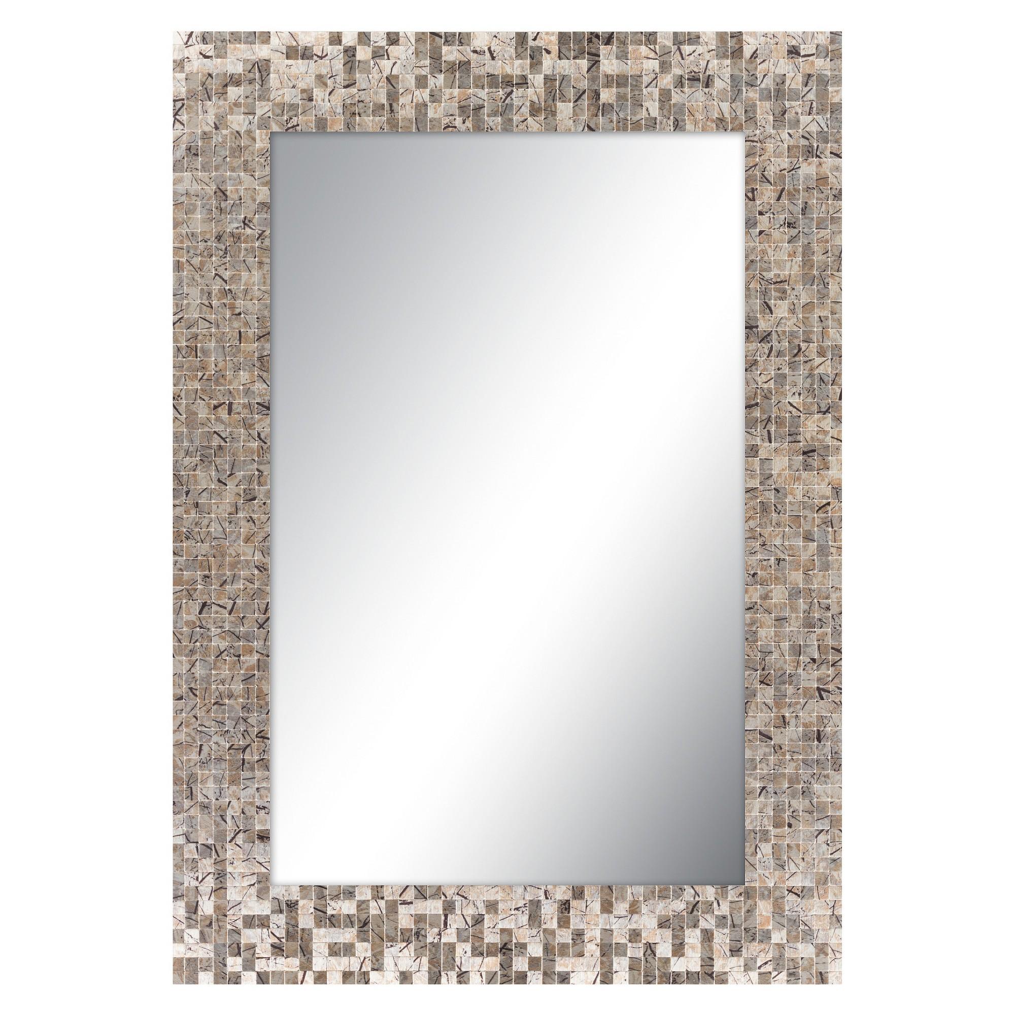 Rectangle Wylde Decorative Wall Mirror Copper Brown  Surya