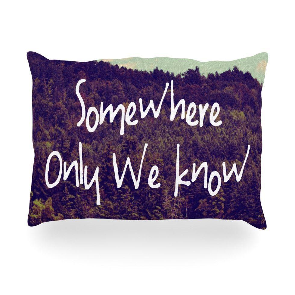 """Rachel Burbee """"Somewhere"""" Oblong Pillow"""