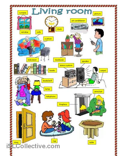 living room worksheet free esl printable worksheets made by teachers projets essayer. Black Bedroom Furniture Sets. Home Design Ideas