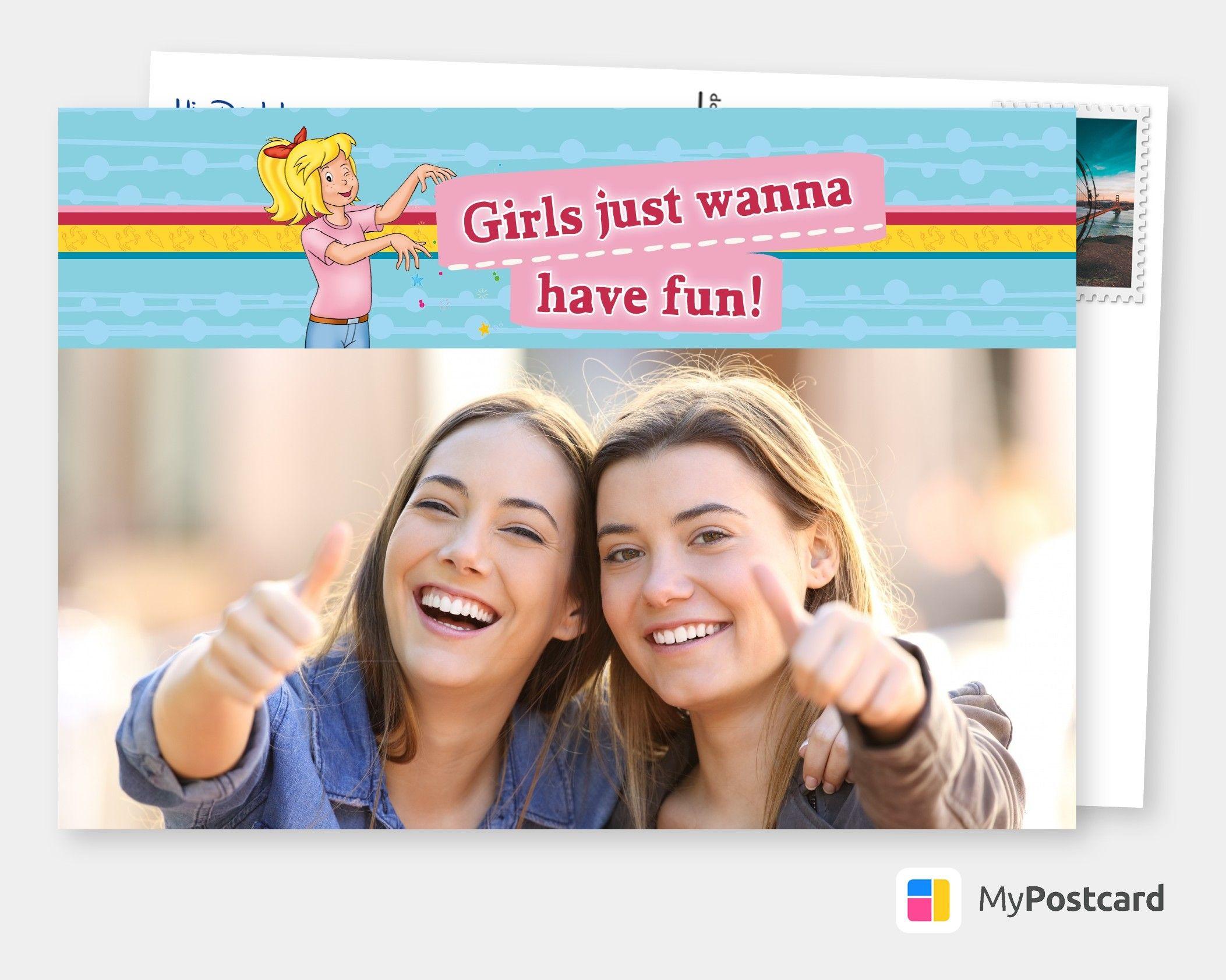 Girls Just Wanna Have Fun Film Musik Karten Echte Postkarten Online Versenden Spass Film Marathon Postkarten Online