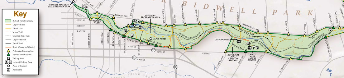 Map Of The Vita Trail In Lower Bidwell Park Our Mission Is Not Just To Bring The Chico Community Together For Healthy Fun But Also T Bidwell Park Map Mission