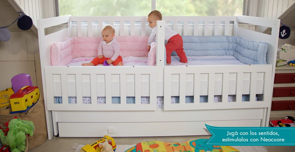 Neocuore cuna funcional de mellizos mellis cuarto de bebe bebe y cunas - Habitaciones bebes nina ...