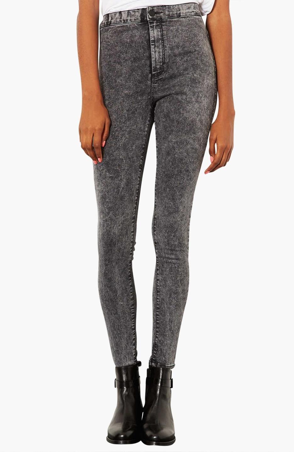 High waisted black skinny jeans long