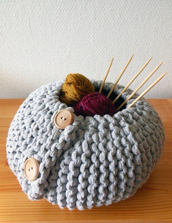 Pdf Pattern For A Knitted Storage Basket Garter Stitch By Mairea Get