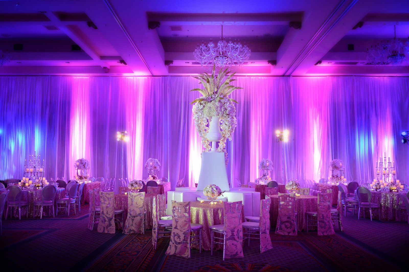 Wow amazing flower centerpieces at this purple and pink wedding centerpieces junglespirit Images