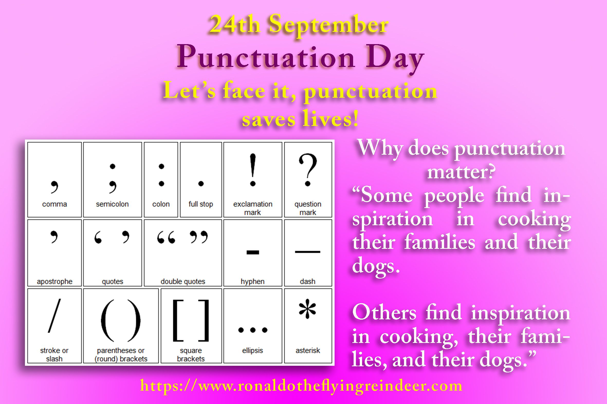 Today 24th Sept Is Nationalpunctuationday Punctuation