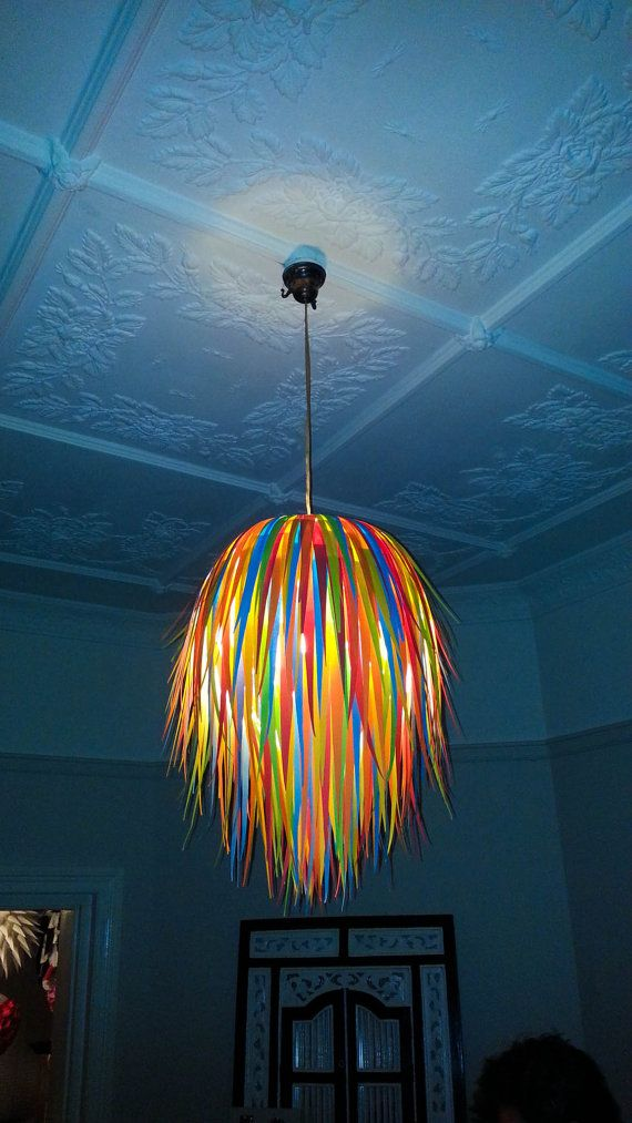 Festival Coloured Paper Hanging Lightshade By MelsCreativeDesigns, $70.00