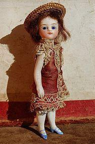 Ca.1880s 4-1/2 in. All Original French or French-type Mignonette - Barndust #dollshopsunited