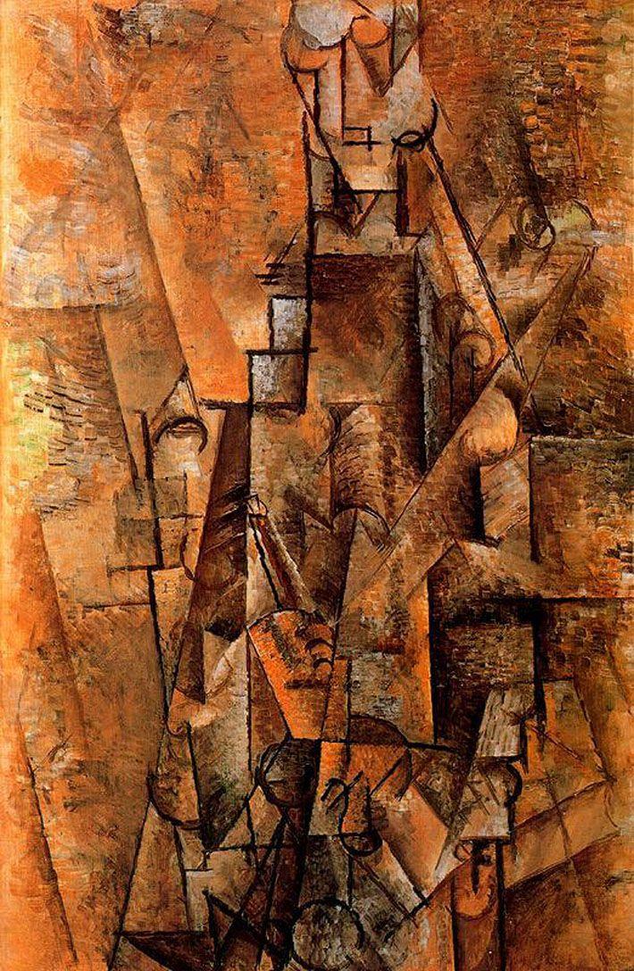 Hombre Con Clarinete Pablo Picasso 1911 Excelente Ejemplo Del