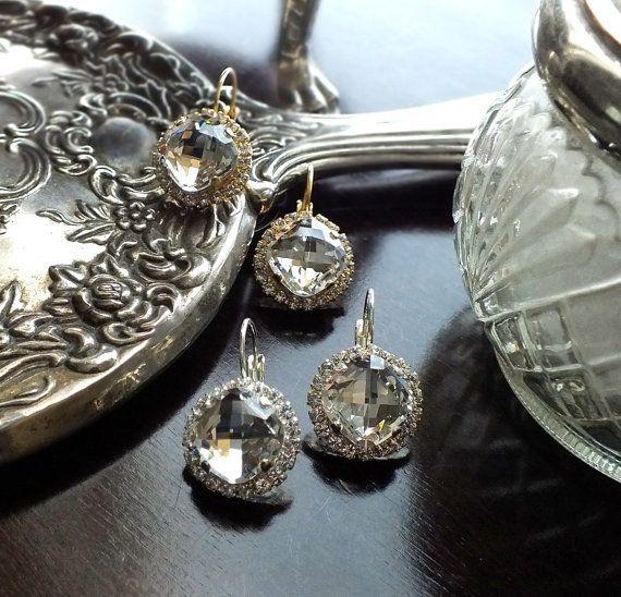 Luna Crystal Drop Earrings by jillzaleski on Etsy, $80.00