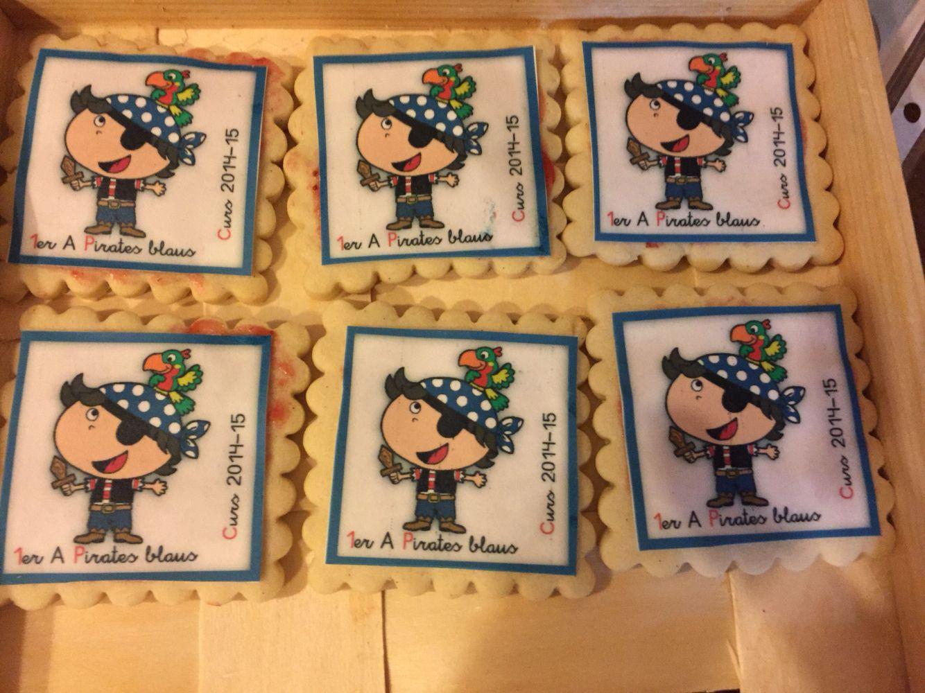 Papel azucar galletas piratas colegio