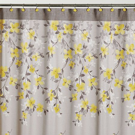 Spring Garden Shower Curtain Hooks Floral Shower Curtains