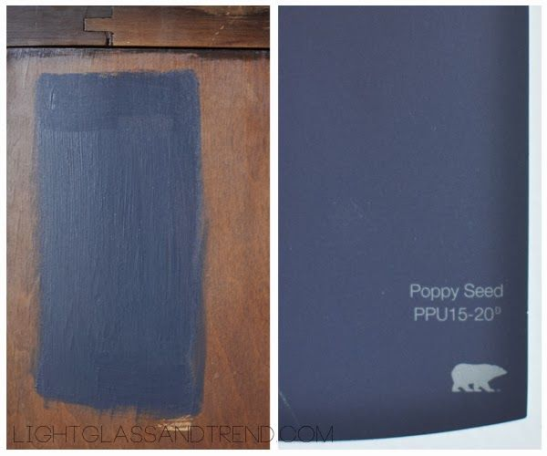 Light Gl And Trend Navy Paint Color Picked Poppyseed By Behr