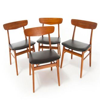 Mid Century Modern Danish Dining Chairs Moderne Esszimmerstuhle