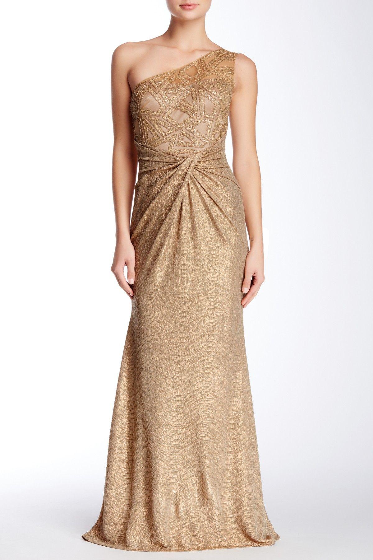 One- Shoulder Embellished Gown by David Meister on @nordstrom_rack ...