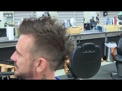 Mens Hairstyle Haircut Videos Faded Mohawk Frohawk Phoenix