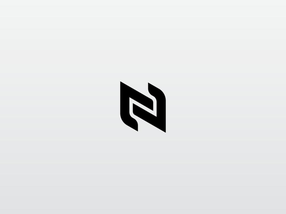 N Logo By Caius On Dribbble N Logo Design Logos Letter Logo Design